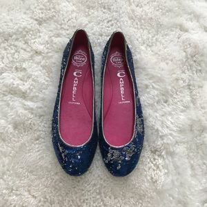 Jeffrey Campbell Eclipse Mermaid Sequin Flats